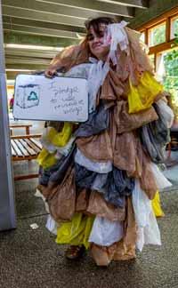 Oregon Coast Aquarium's bag monster