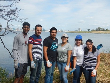 TAYR Youth Group at a debris cleanup at Masonville Cove